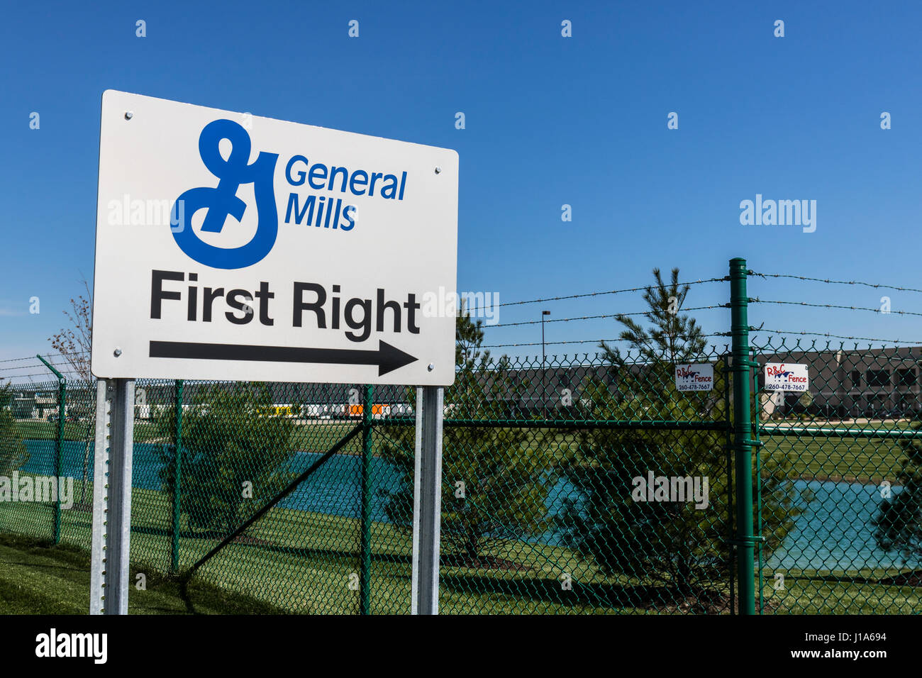 Fort Wayne - Circa April 2017: General Mills Distribution Center Operated by Exel, Inc. II - Stock Image