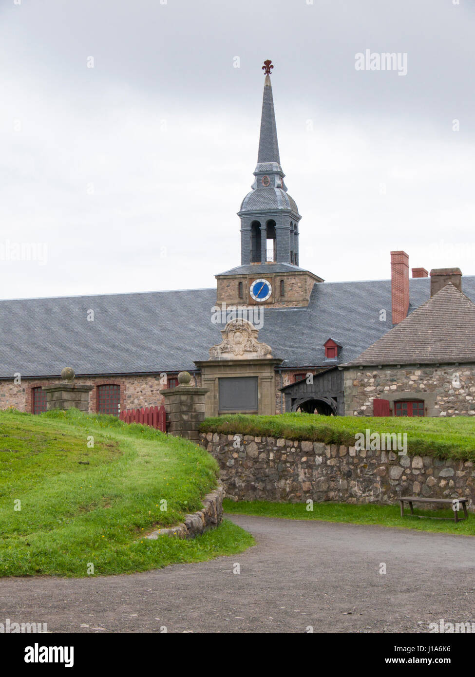 Fortress at Louisbourg - Stock Image