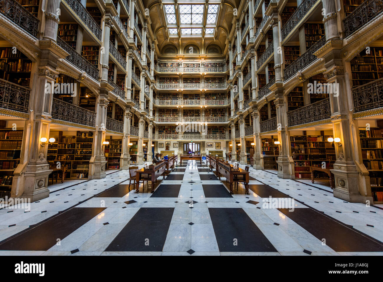 Peabody Building in Baltimore, Maryland - Stock Image