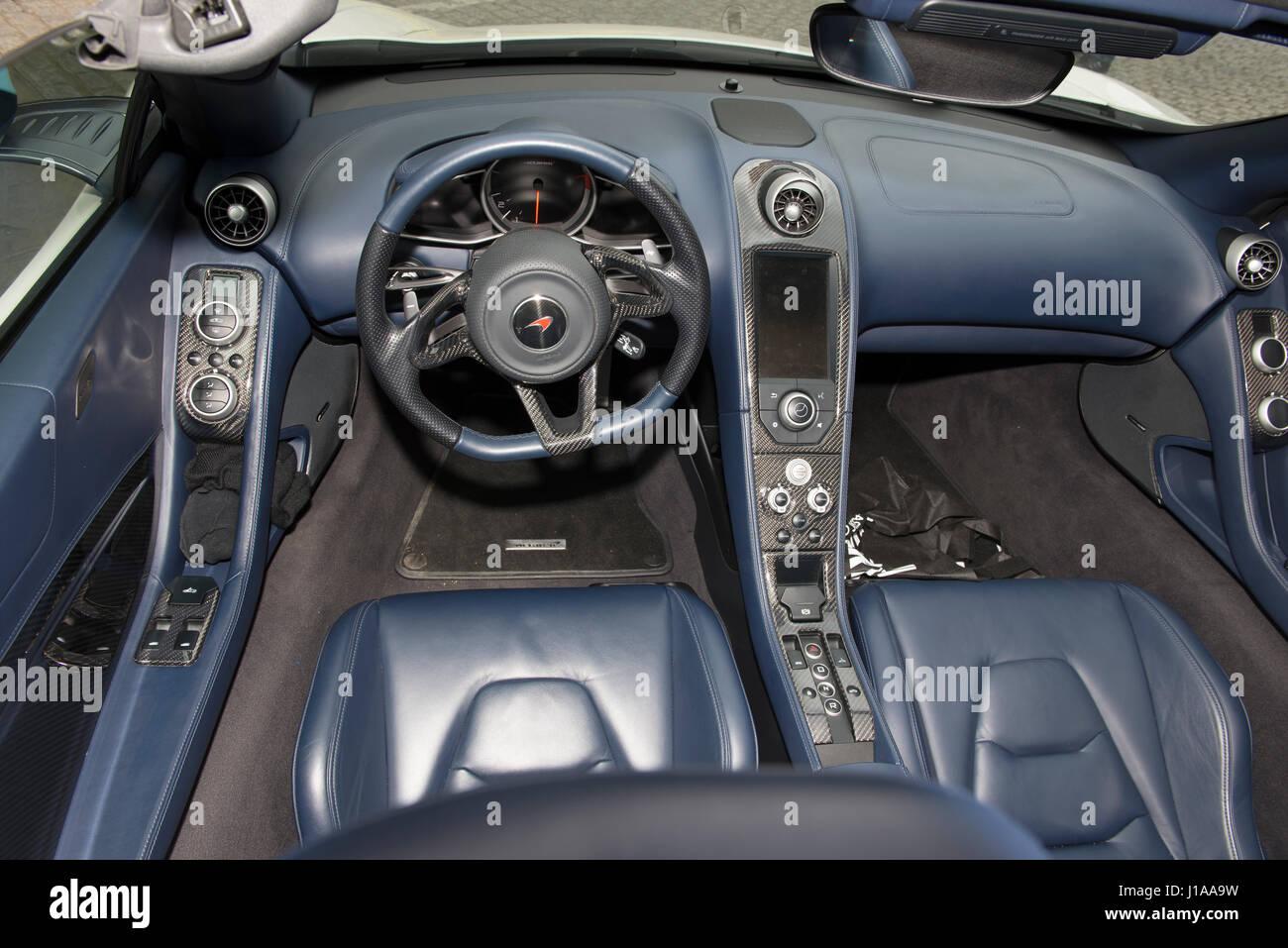 Interior Of A McLaren 650s Sportscar   Stock Image