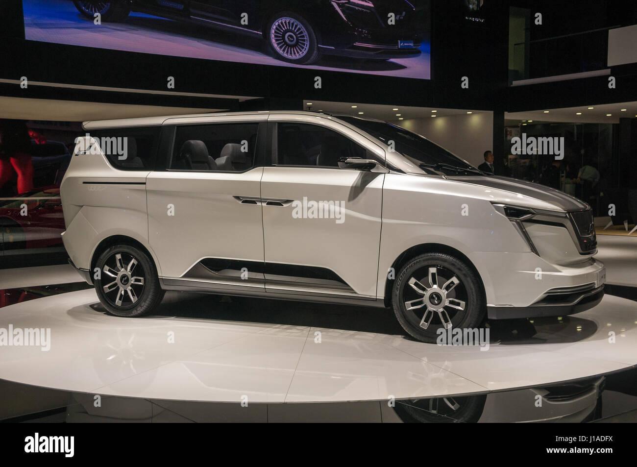 Shanghai, China  19th April, 2017  W Motors Iconiq 7 MPV electric