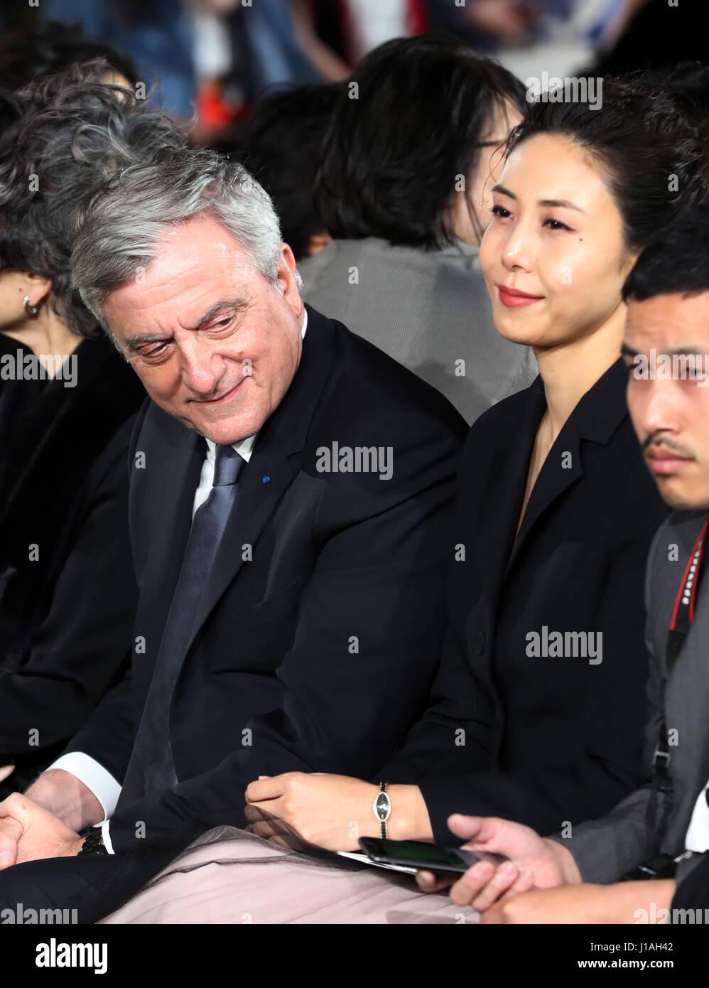 Tokyo, Japan  19th Apr, 2017  French fashion giant Dior CEO Sidney