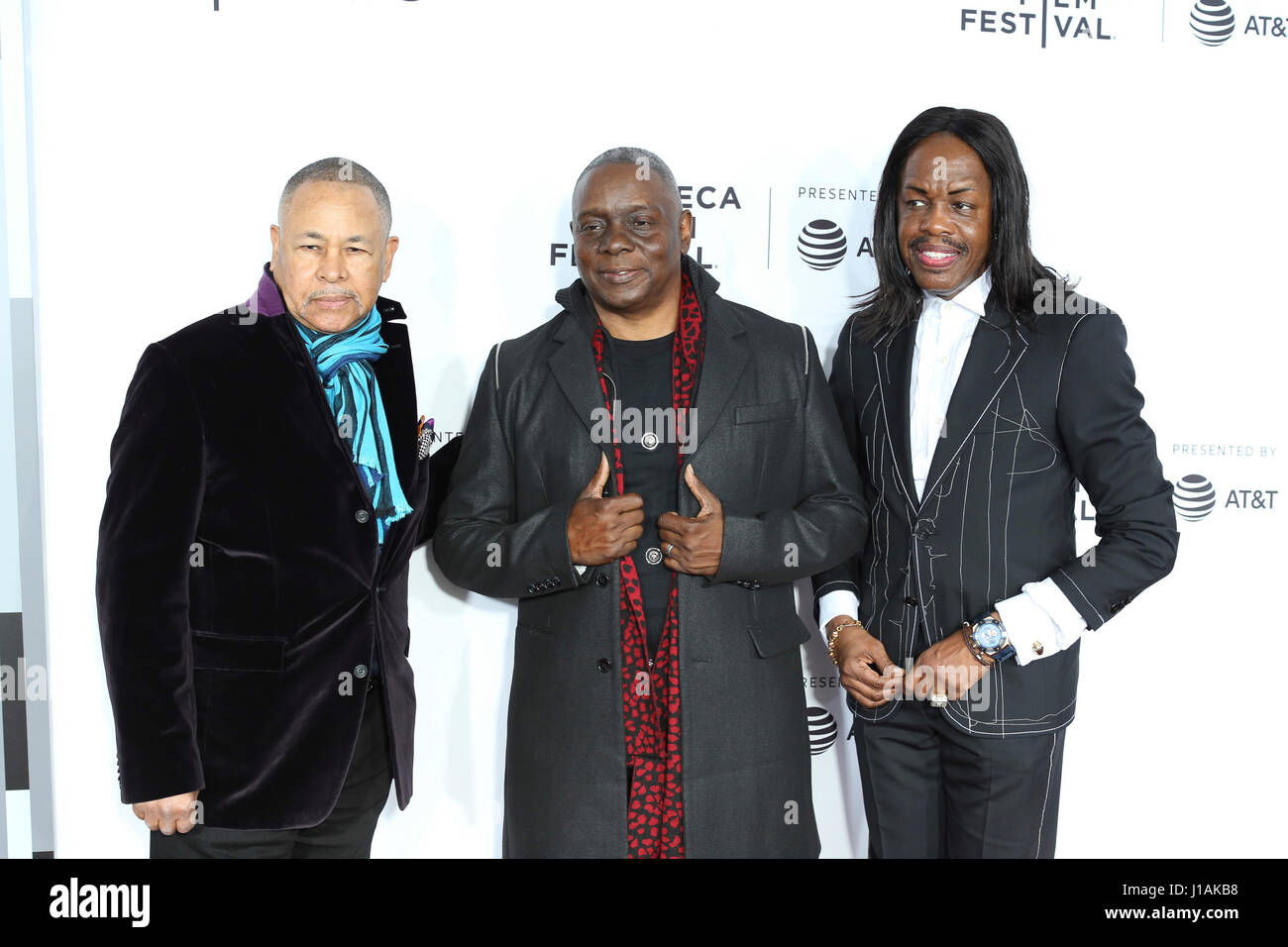 New York, USA. 19th April, 2017. Earth Wind And Fire arrives at the 2017 Tribeca Film Festival Opening Night, Clive - Stock Image