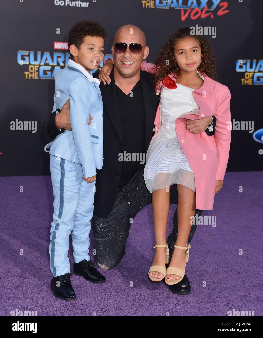 Los Angeles, USA. 18th Apr, 2017. Vin Diesel, daughter ...