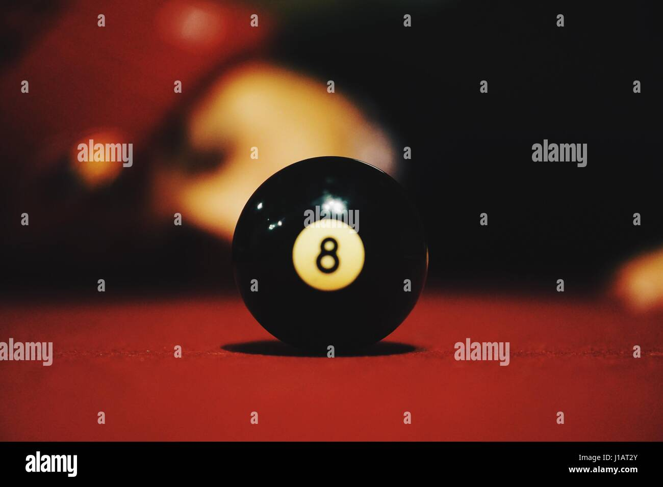 8 Balled - Stock Image
