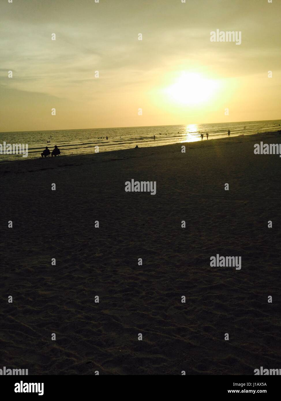 Sunset . I was in St. Pete Florida and went to the beach! - Stock Image