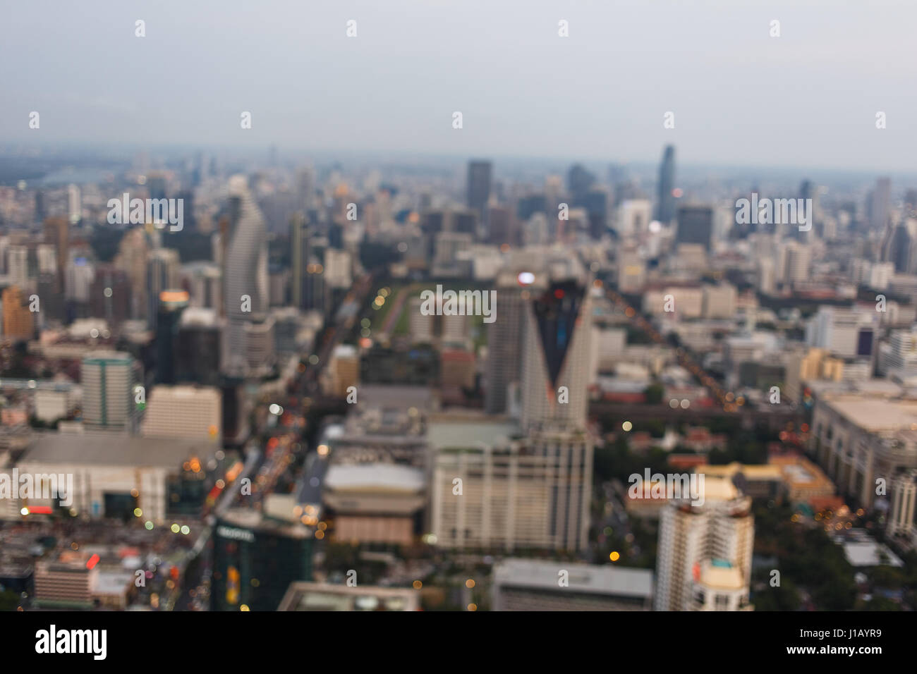 Blurred photography of modern buildings - Stock Image