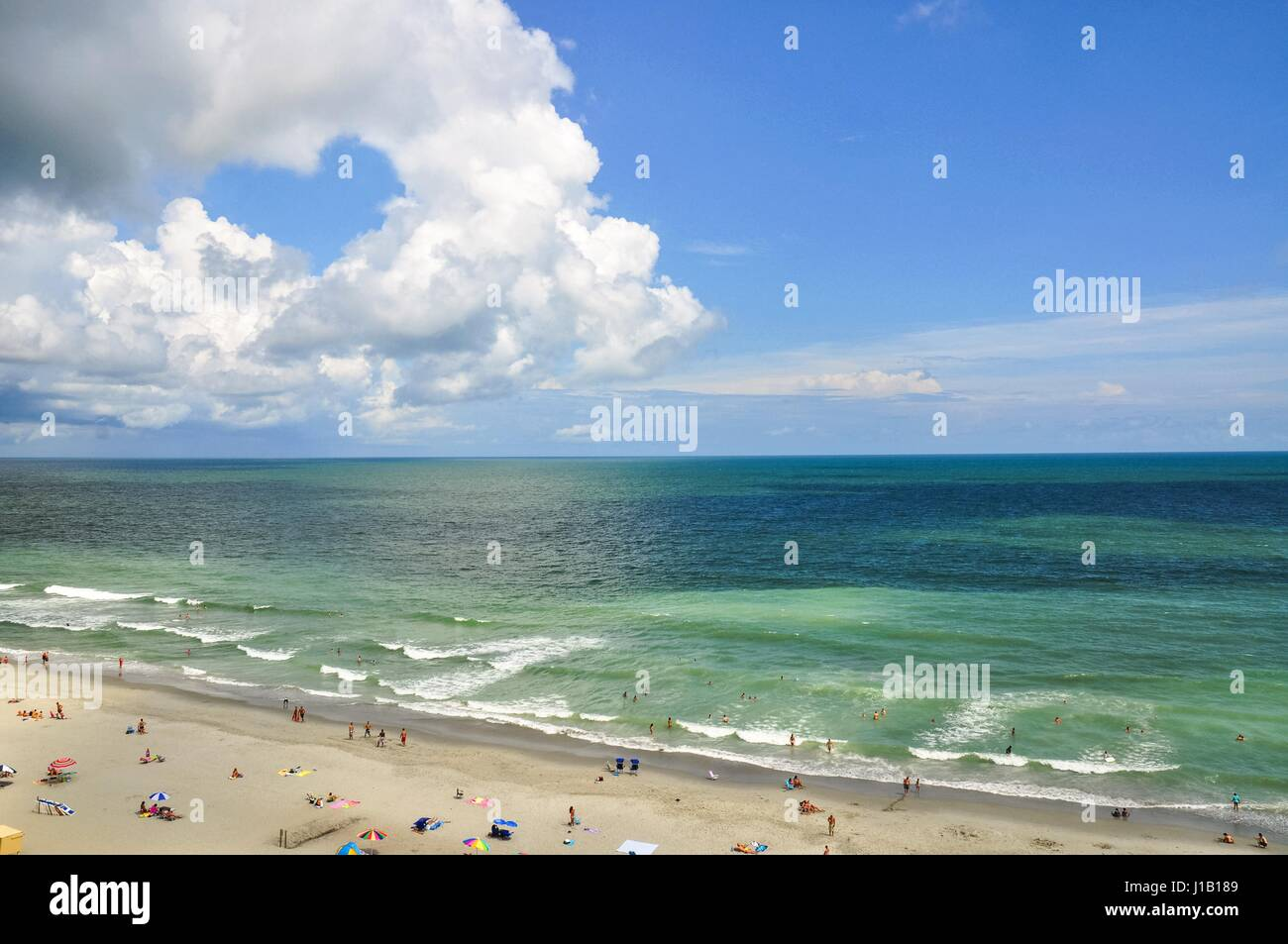 outstanding view of myrtle beach south carolina looking out over the