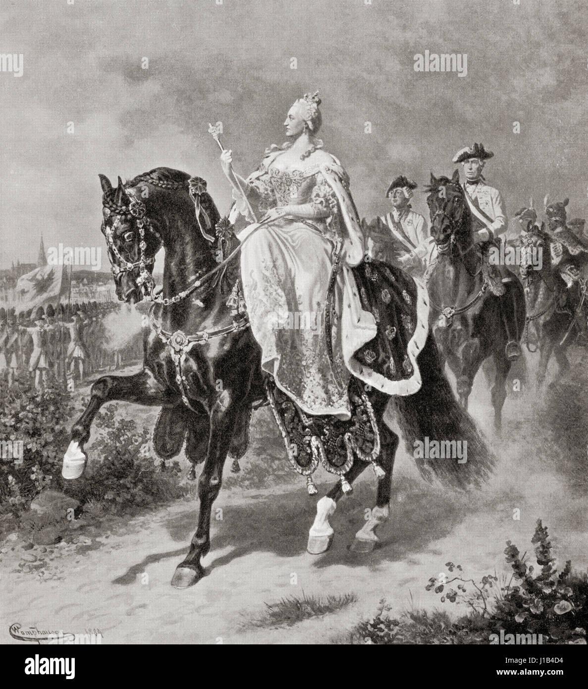 Maria Theresa Walburga Amalia Christina, 1717 – 1780.  Only female ruler of the Habsburg dominions and the last - Stock Image