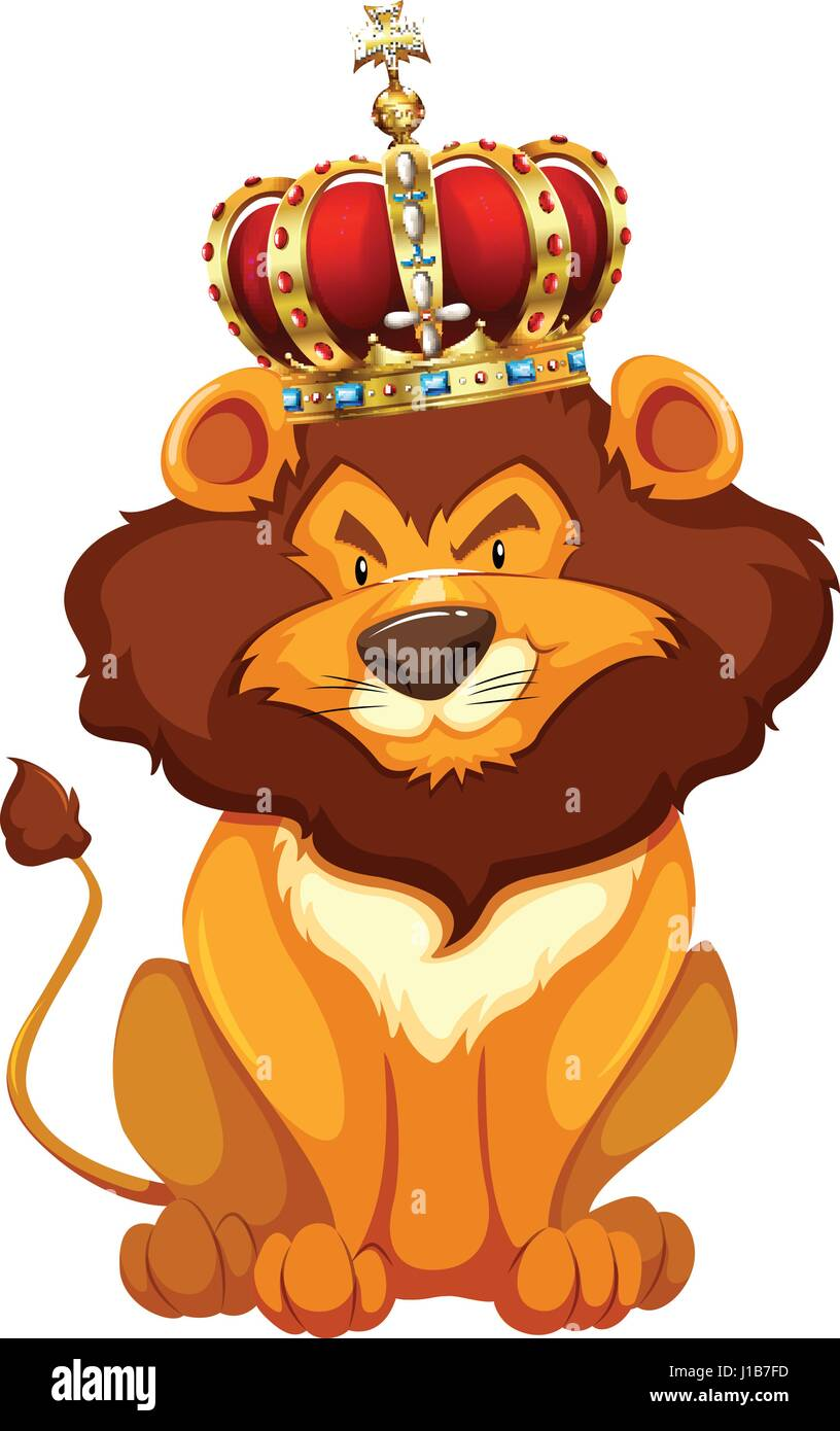 Wild Lion Wearing Crown Illustration Stock Vector Image Art Alamy Find the perfect crown cartoon images stock photos and editorial news pictures from getty images. https www alamy com stock photo wild lion wearing crown illustration 138544993 html