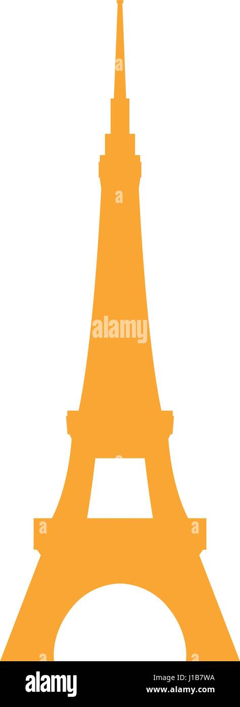 Eiffel tower architecture - Stock Vector