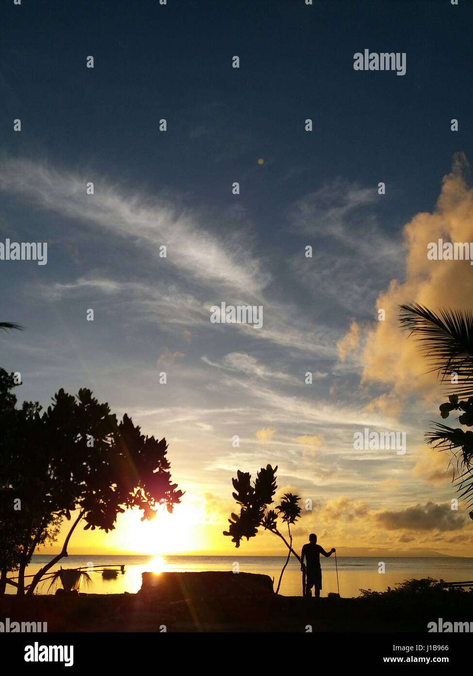 Mornings and Silhouettes - Stock Image