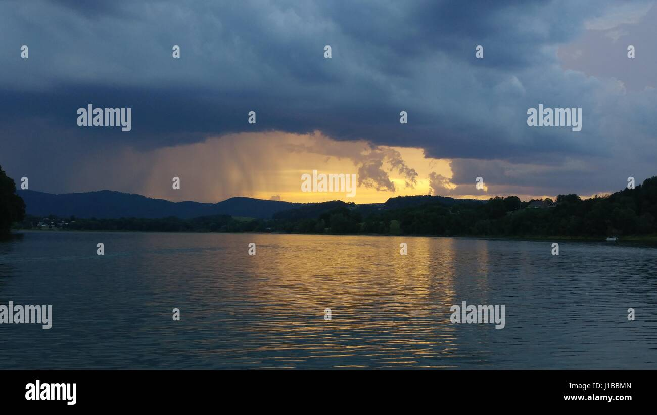 The darkened sky - Stock Image