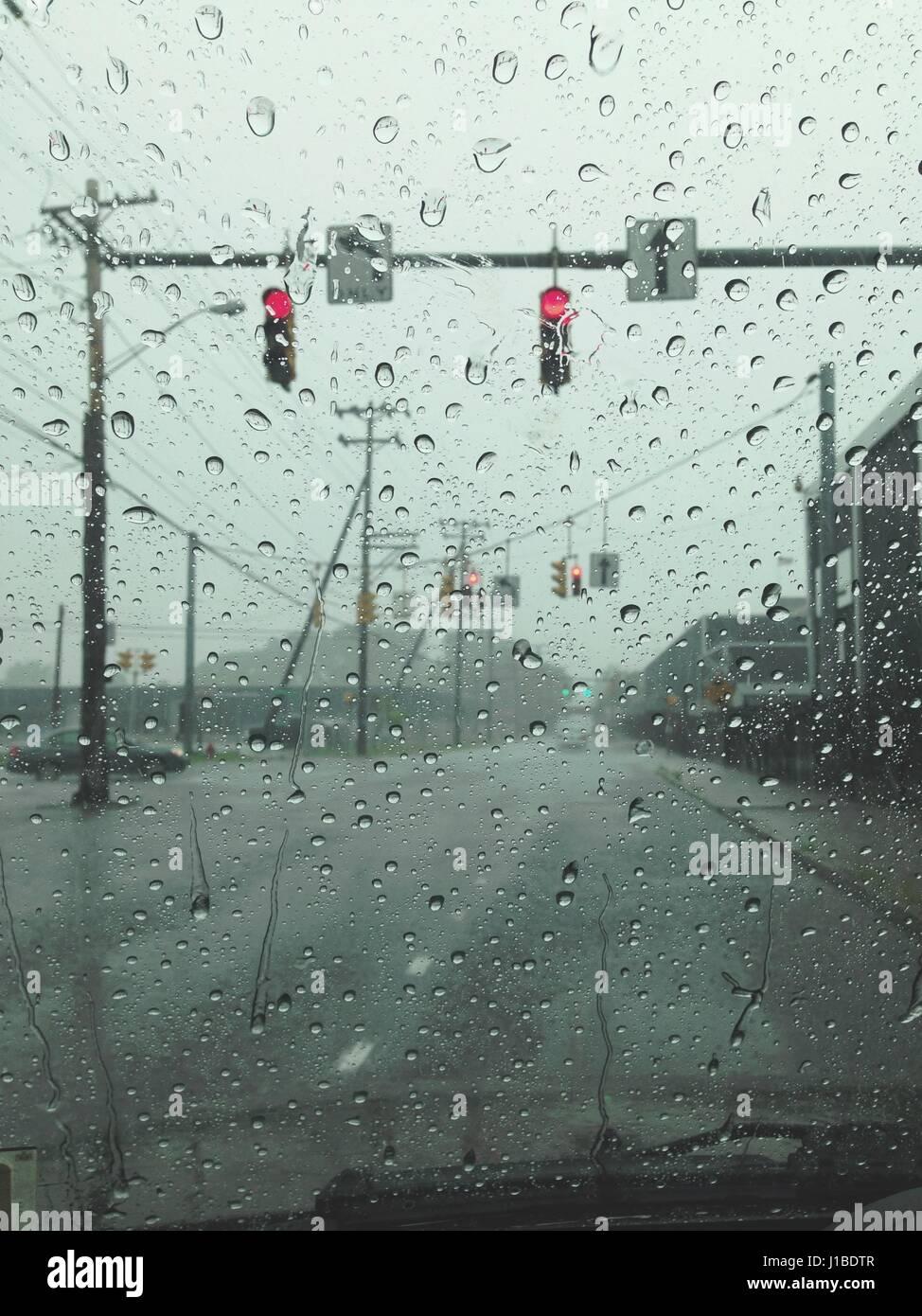 Rainy days in Syracuse, NY. - Stock Image