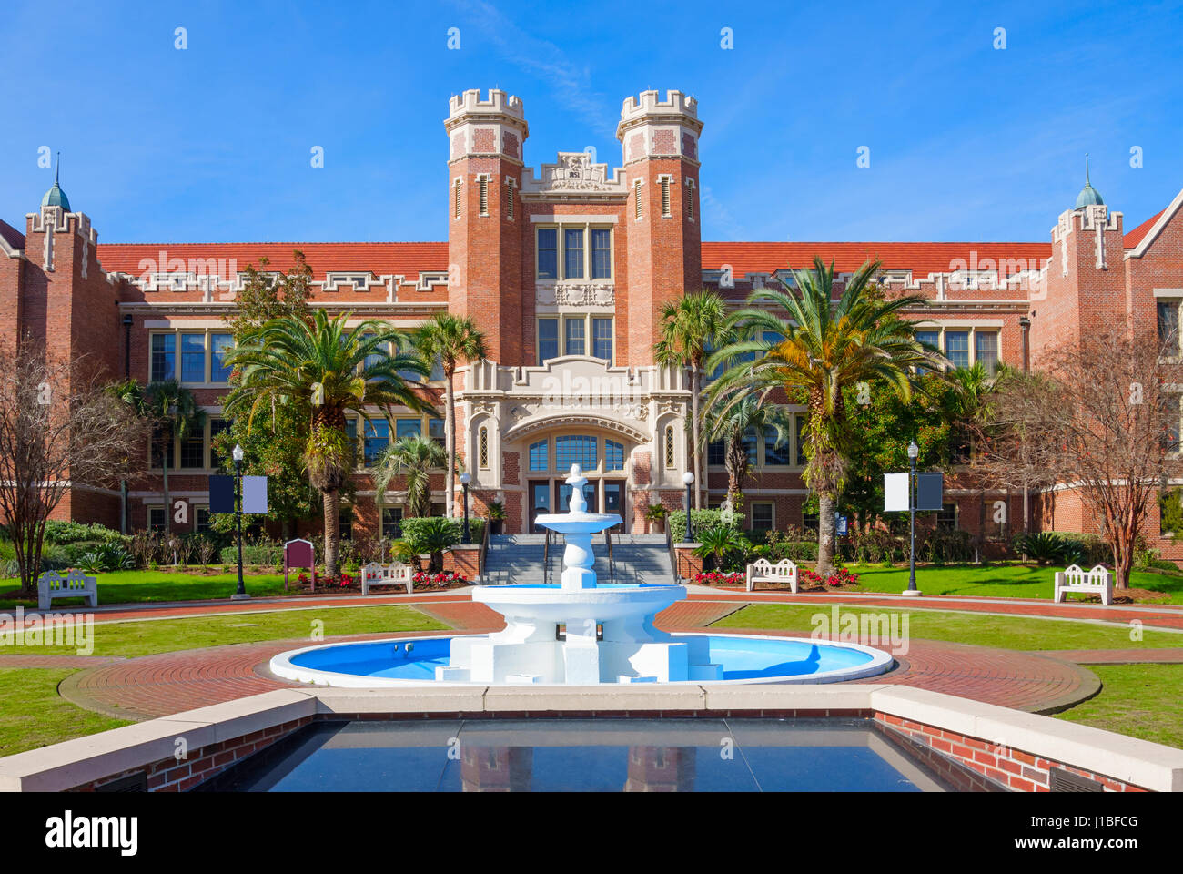Westcott Building on the Florida State University campus in Tallahassee, Florida, USA. Florida State U is a public - Stock Image