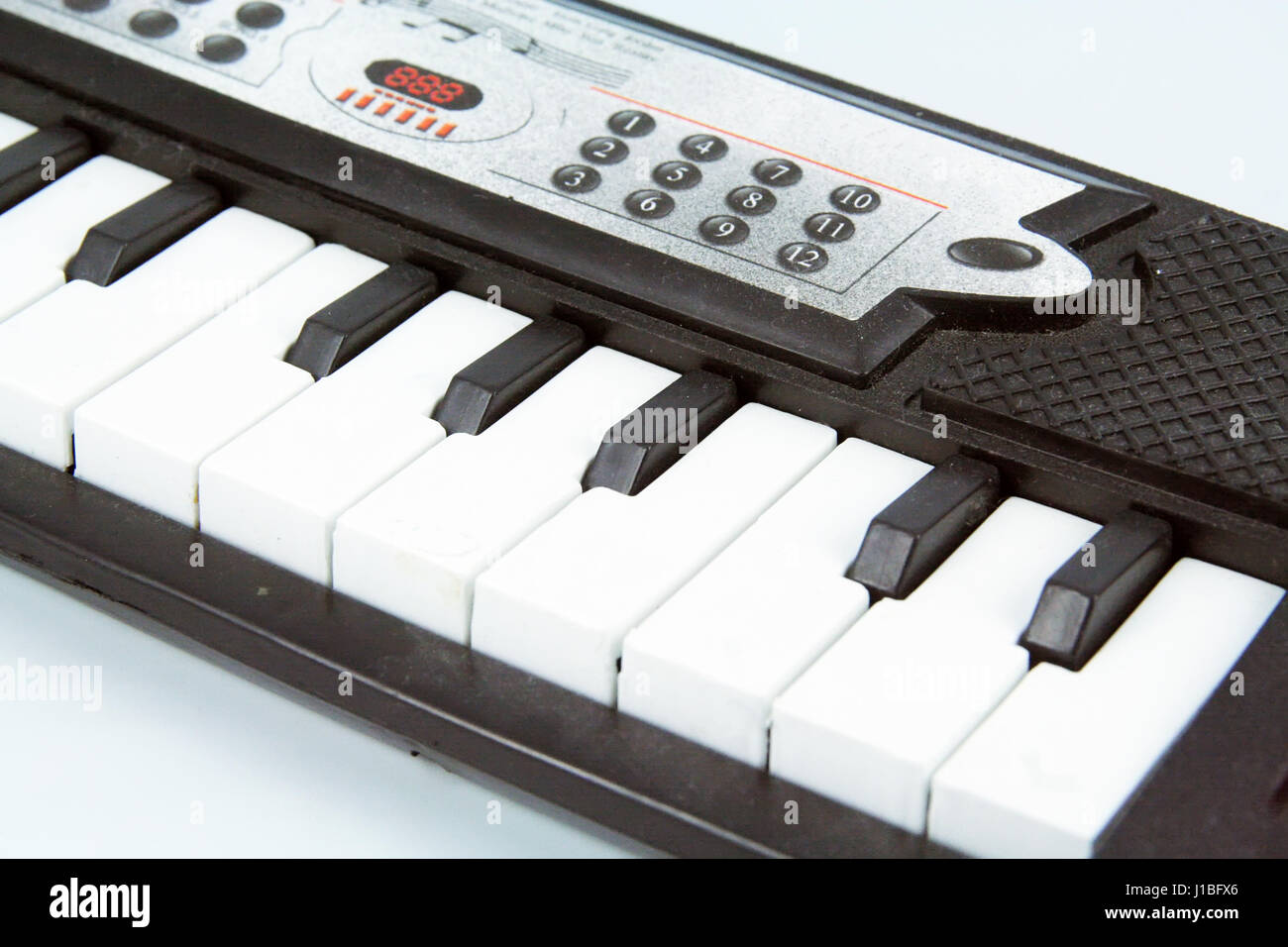 Synthesizer toy. Kids instrument. - Stock Image