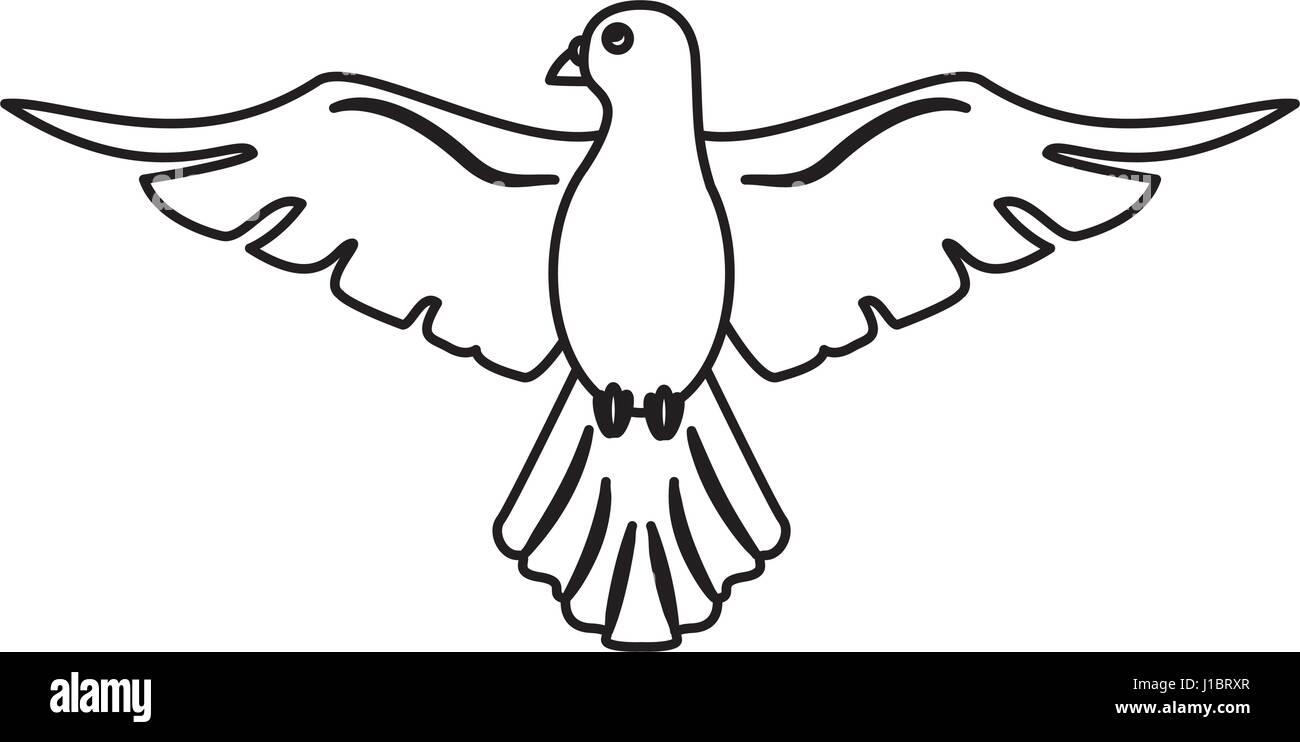 holy spirit hope faith outline Stock Vector Art