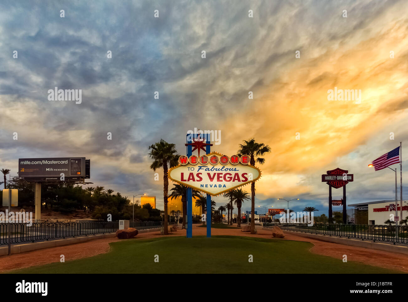 Las Vegas Welcome Sign - Stock Image