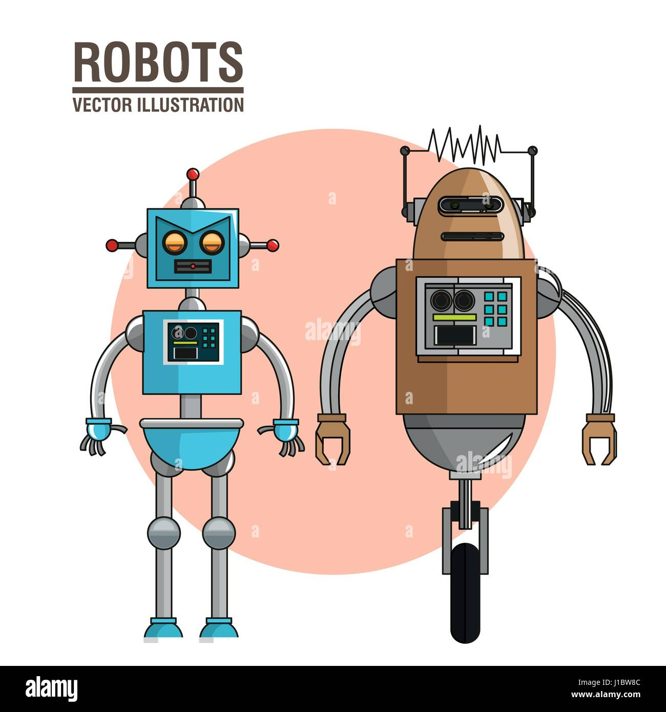 robots technology future image Stock Vector