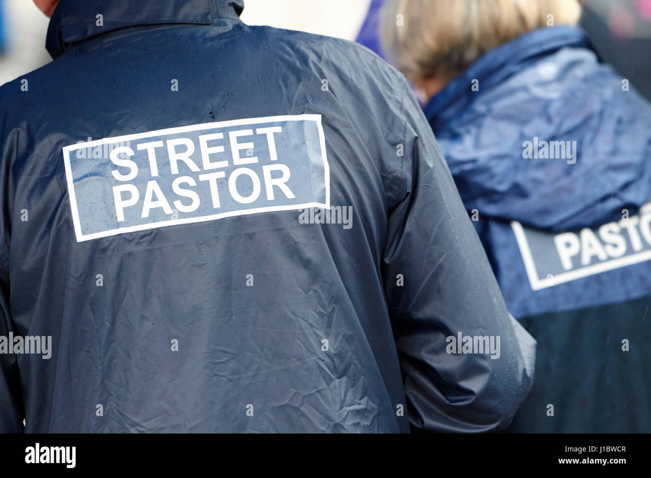 street pastor christians outdoors in the uk - Stock Image
