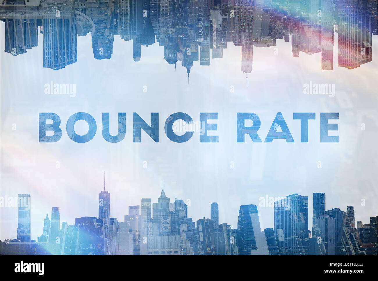 Bounce Rate concept image - Stock Image