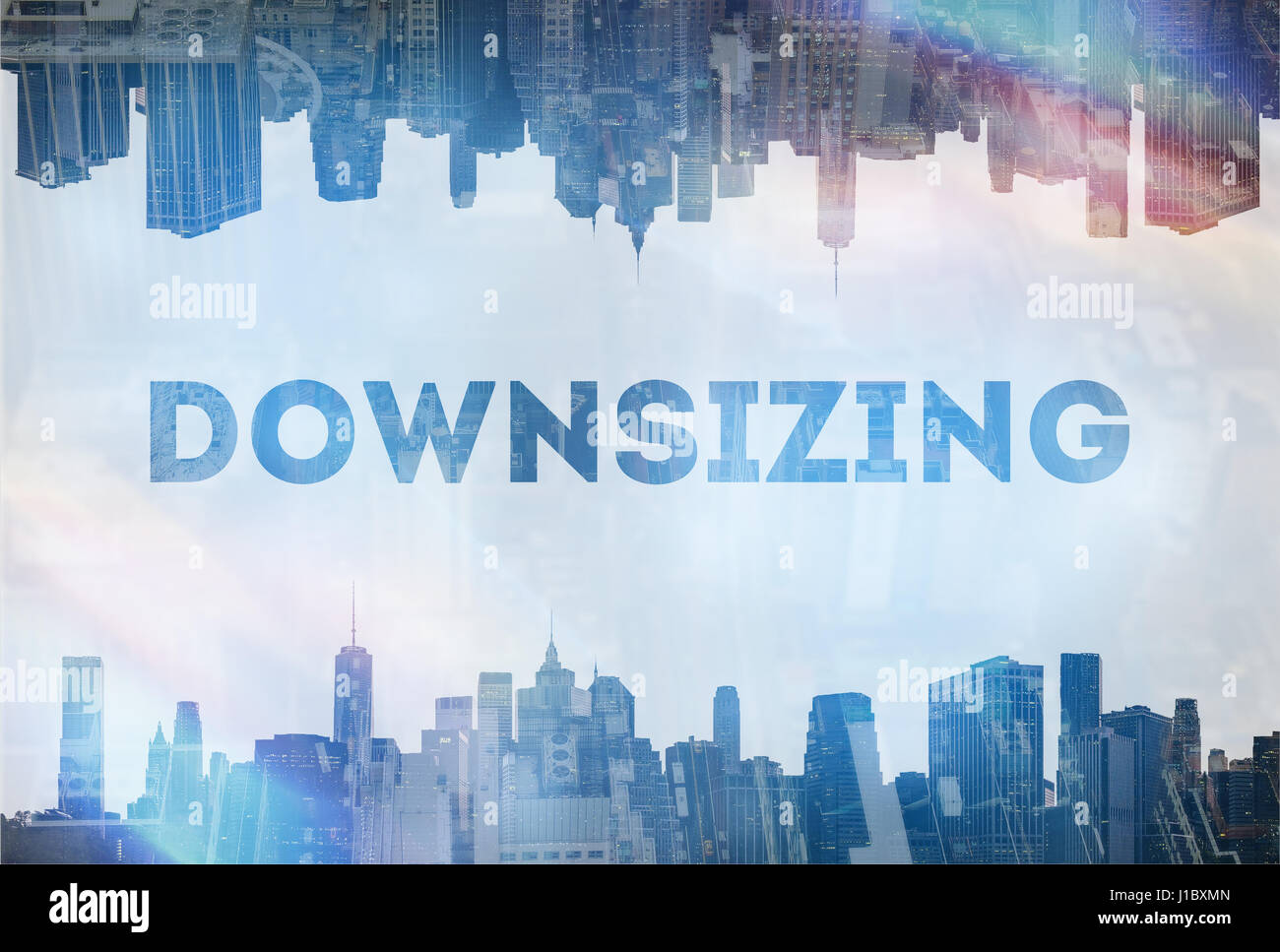 Downsizing concept image - Stock Image