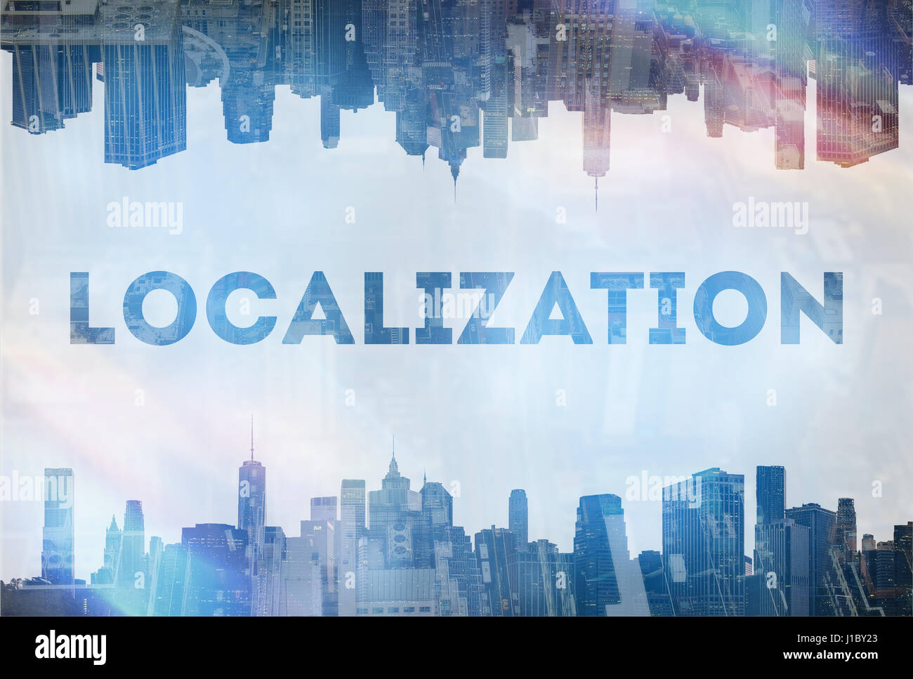 Localization concept image - Stock Image