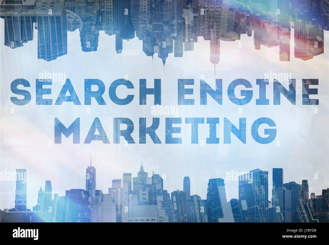 Search Engine Marketing concept image - Stock Image
