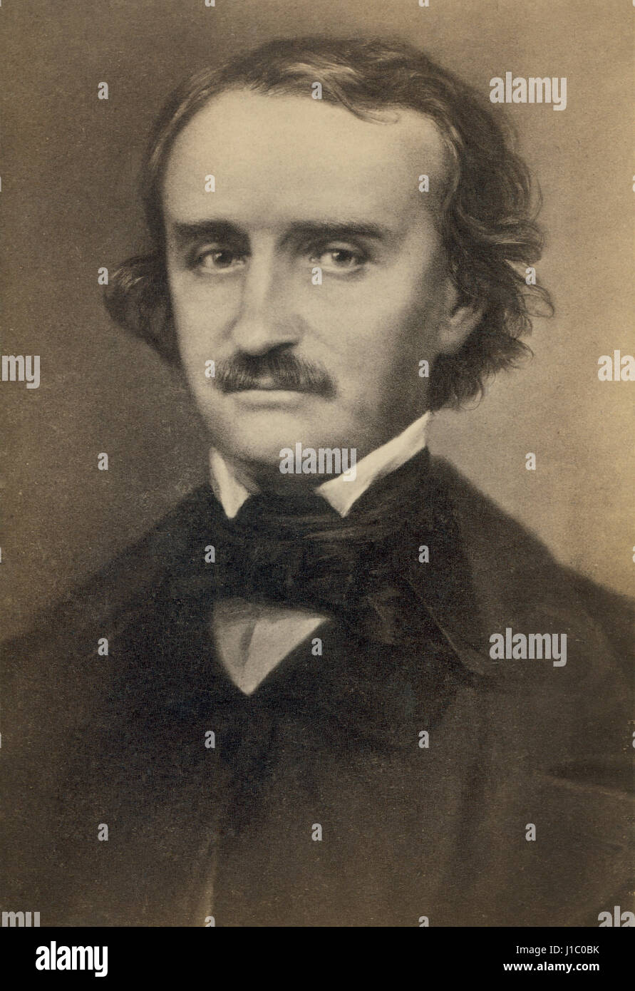Edgar Allan Poe (1809-49), American Author and Poet, Portrait, 1840's - Stock Image