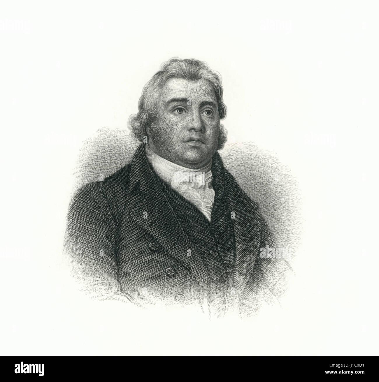 Samuel Taylor Coleridge (1772-1834), English Poet, Philosopher and Founder of Romantic Movement, Engraving, 1876 - Stock Image