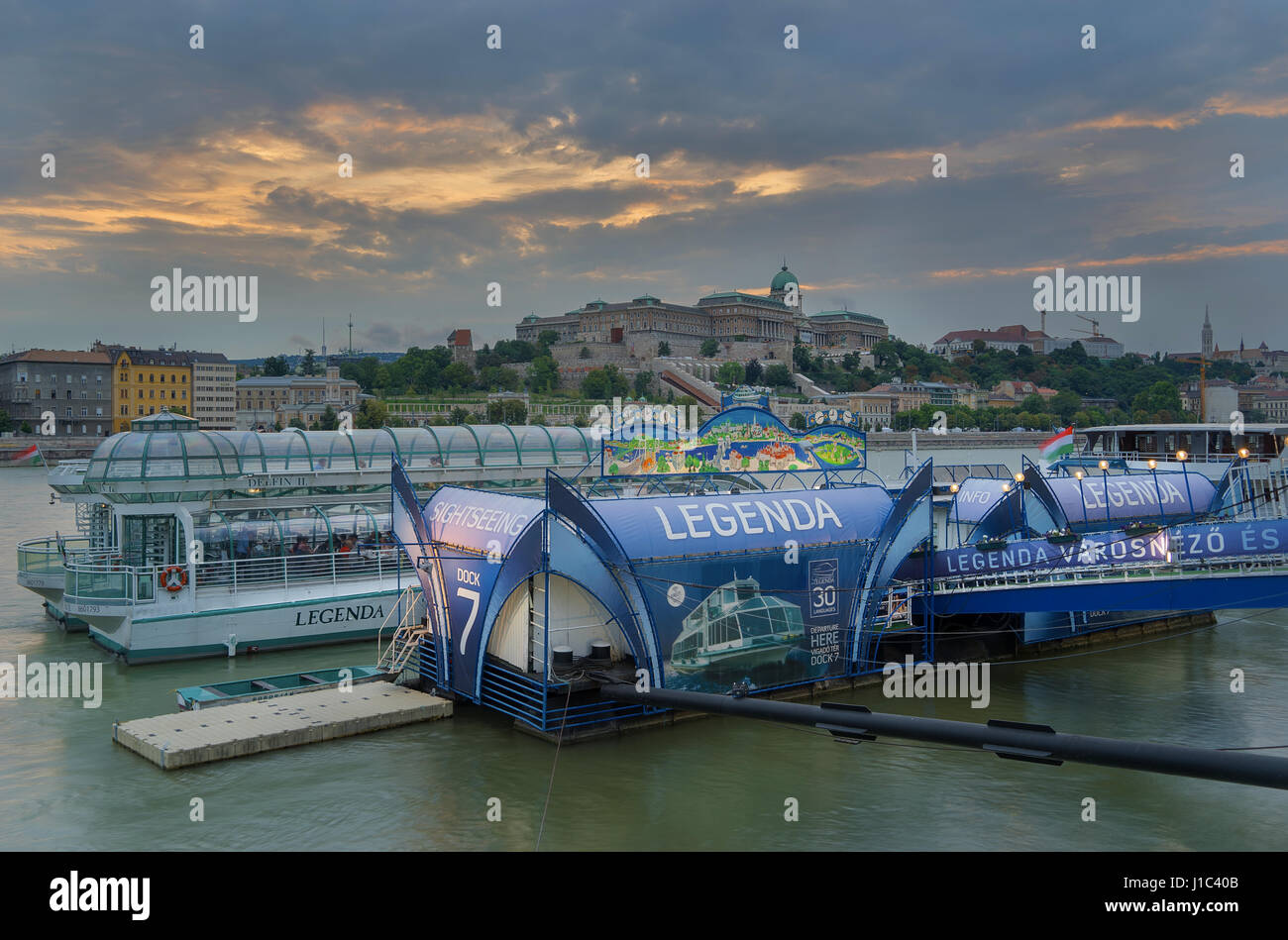 Budapest is a beautiful city split by the mighty Danube river Stock Photo