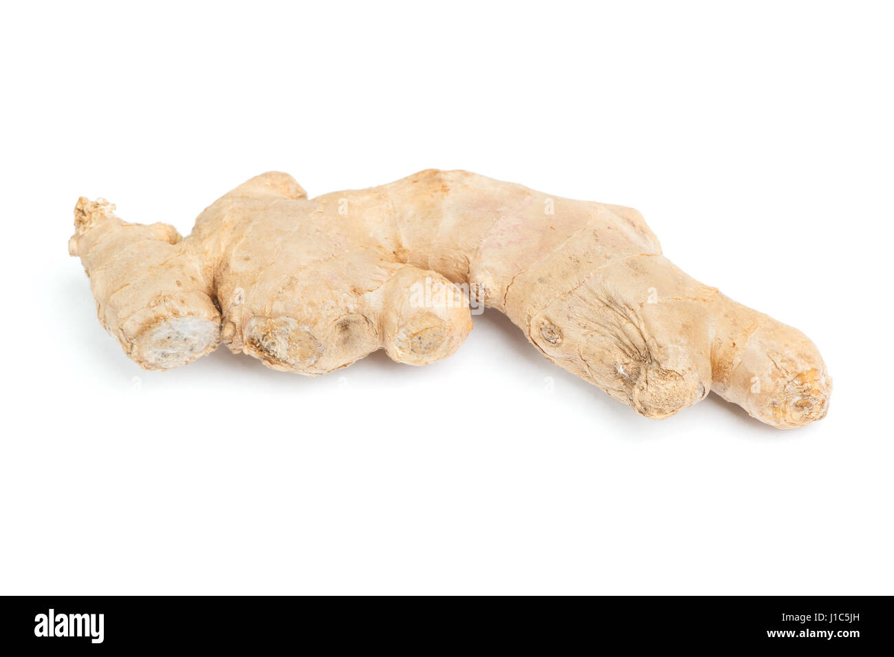 Root ginger isolated on white background - Stock Image