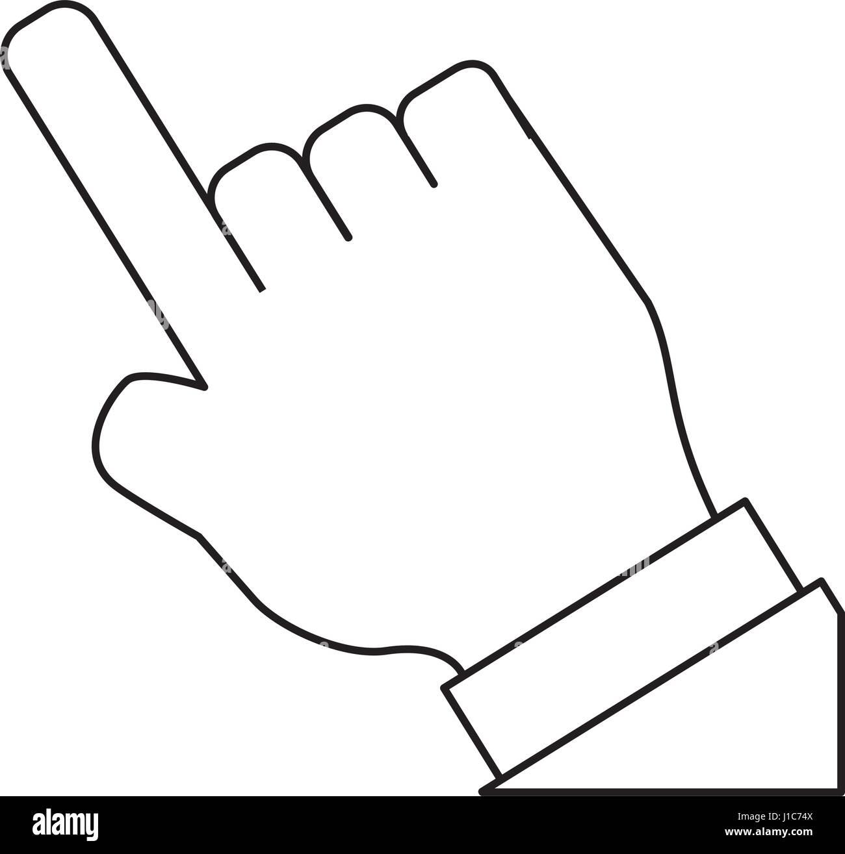 Hand touching something - Stock Vector