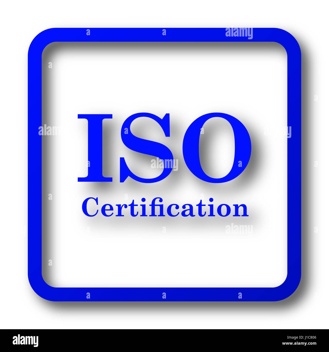 Iso Certification Icon Iso Certification Website Button On White
