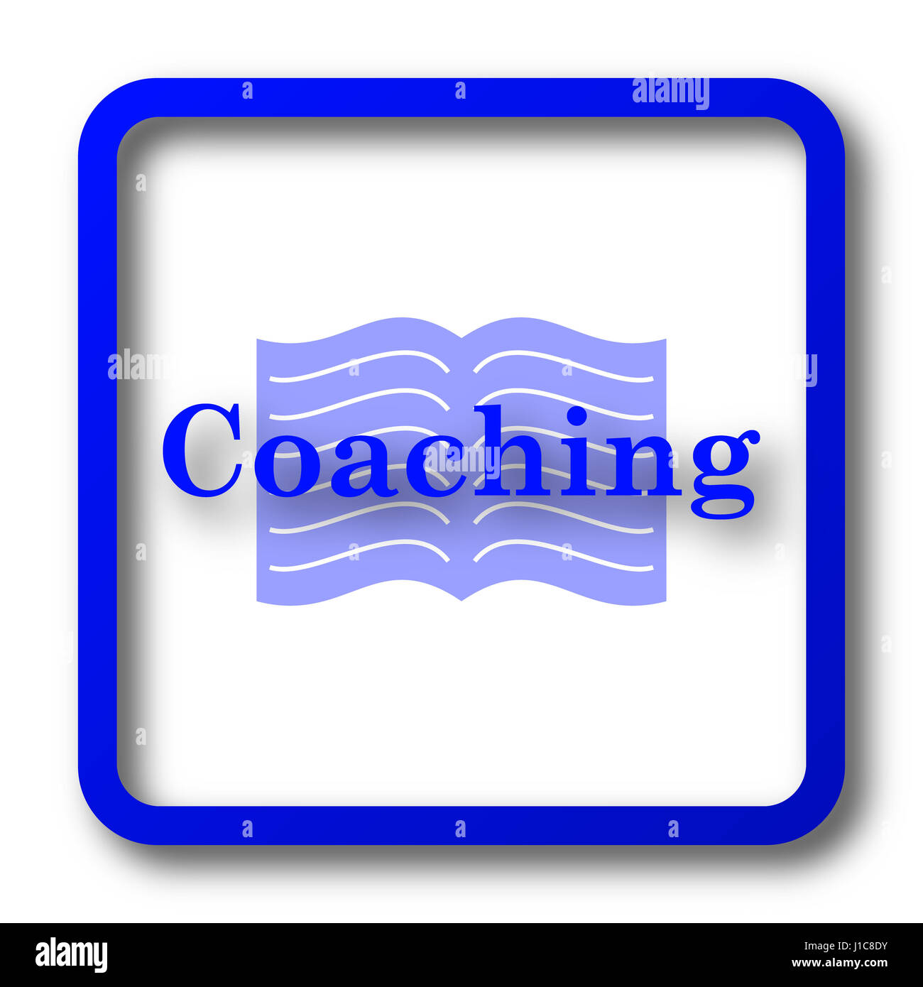 coaching icon coaching website button on white background stock