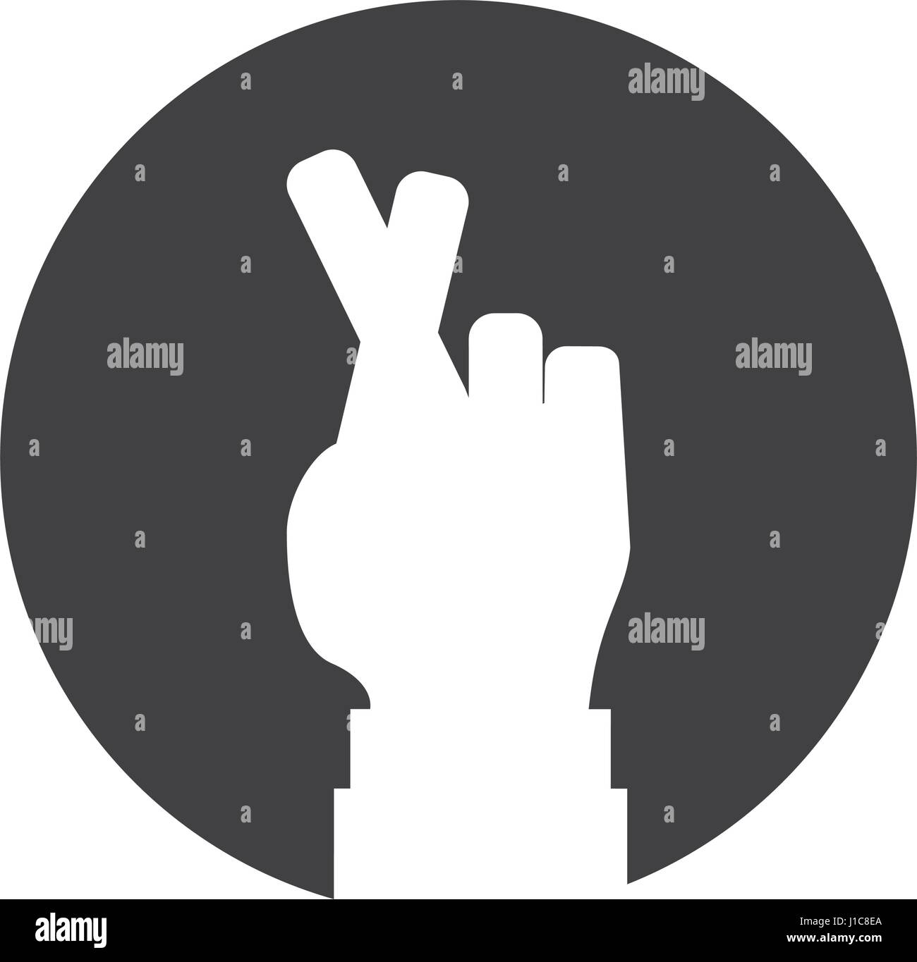 Fingers Crossed Stock Vector Images Alamy