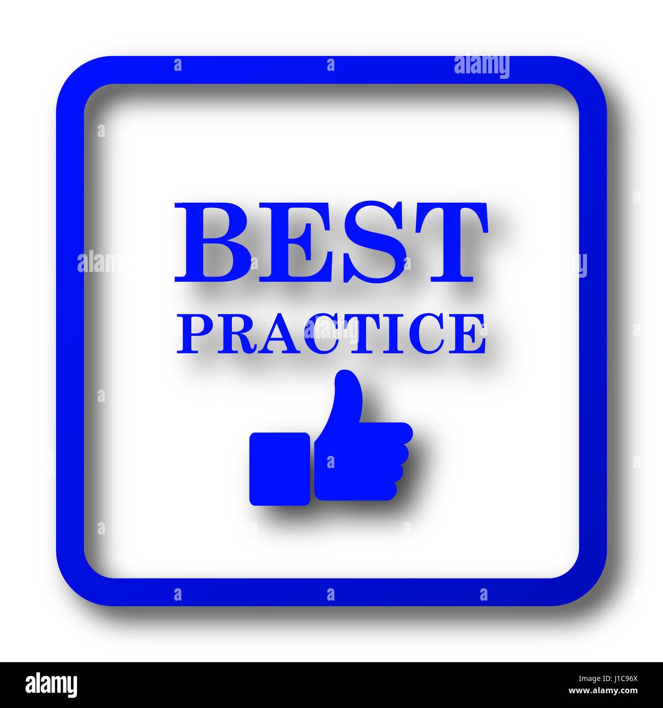 best practice icon best practice website button on white background