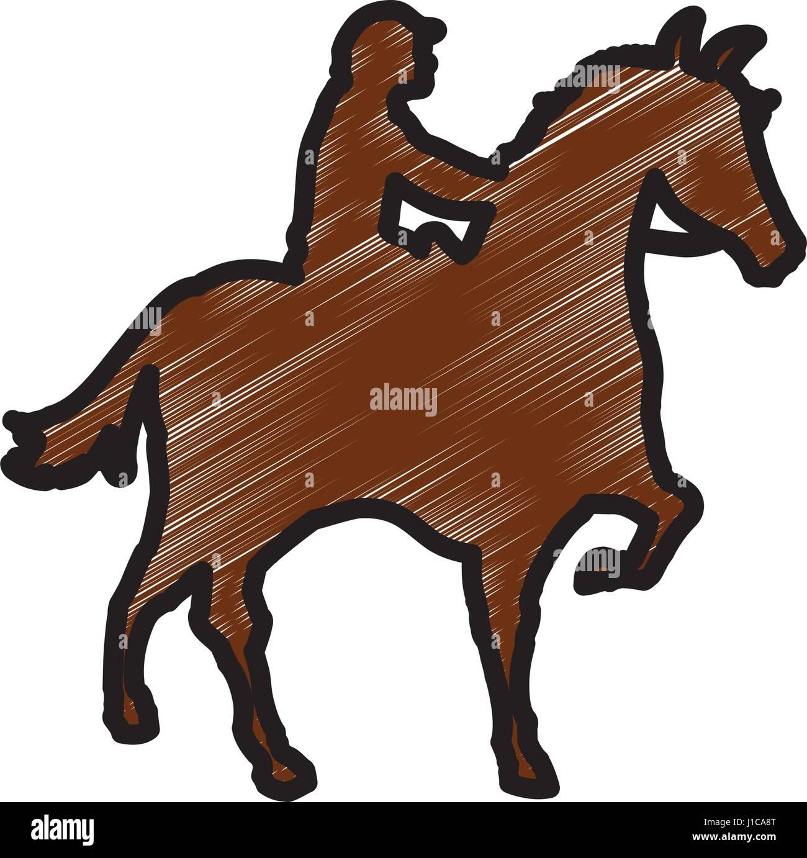 Horse Riding Equestrian Sport Stock Vector Image Art Alamy