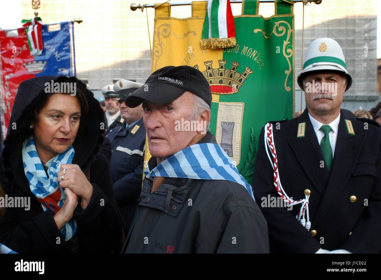 "Milan (Italy), ""Memory Day"", demonstration in memory of deportees in the Nazi concentration camps Stock Photo"