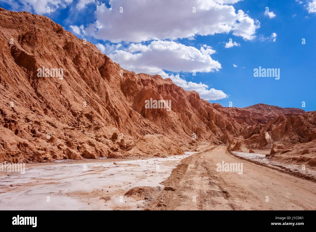 Valle de la muerte landscape in San Pedro de Atacama, Chile - Stock Image