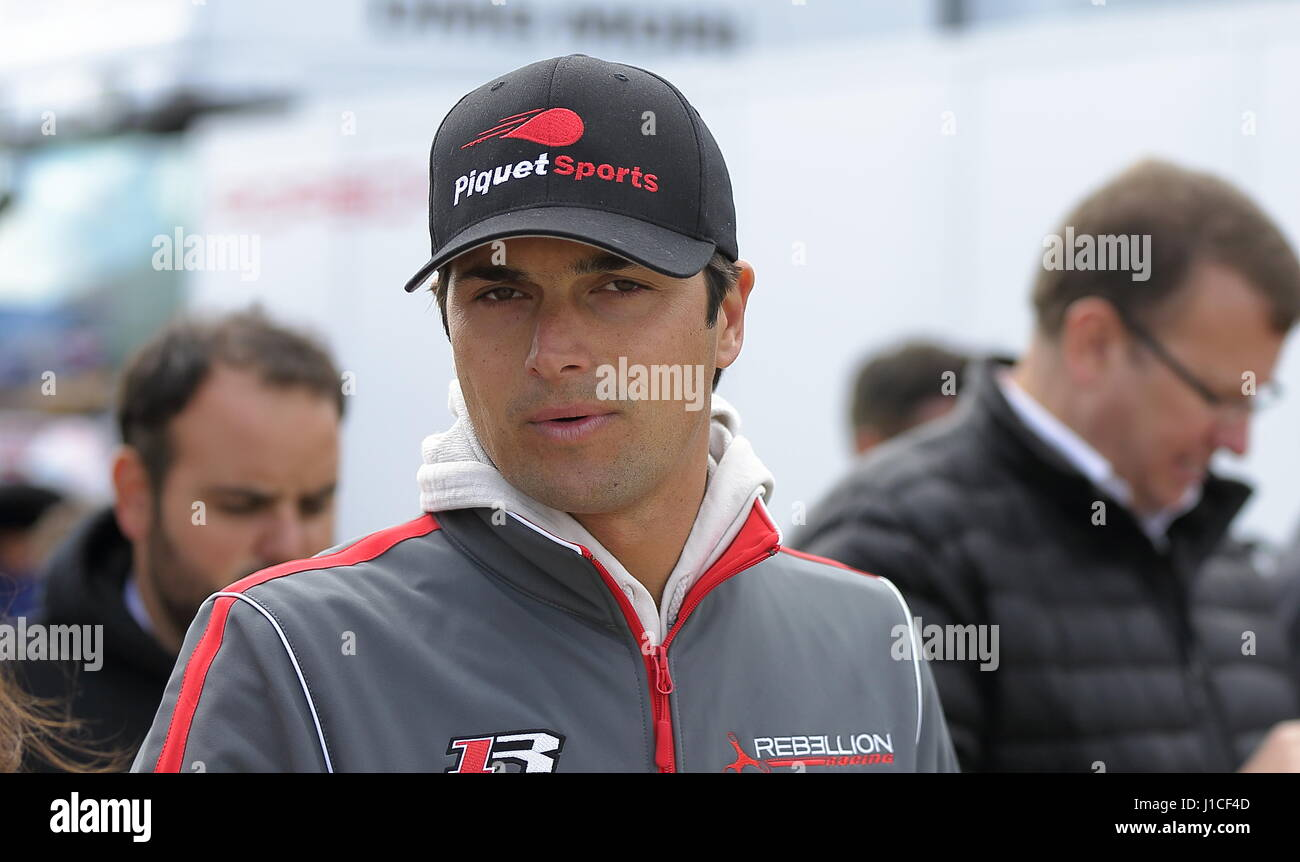 Nelson Piquet Jr in the paddock at the Silverstone World Endurance Championship, April 15 2017 Stock Photo