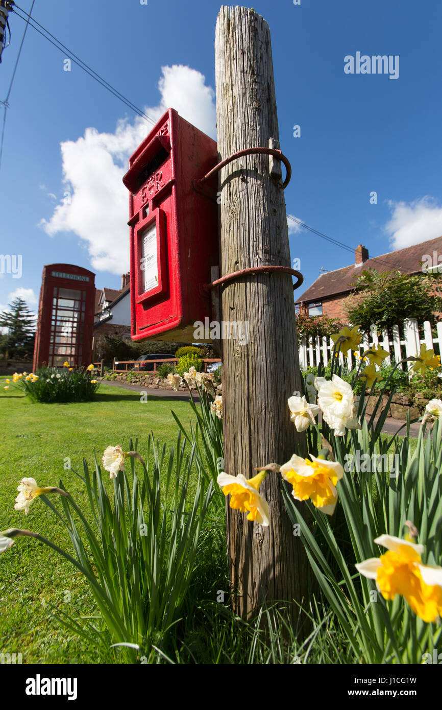Village of Barton, England. Spring view of the picturesque Cheshire village of Barton. - Stock Image