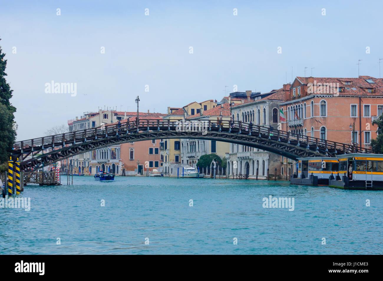 The Academia Bridge, in Venice, Veneto, Italy Stock Photo