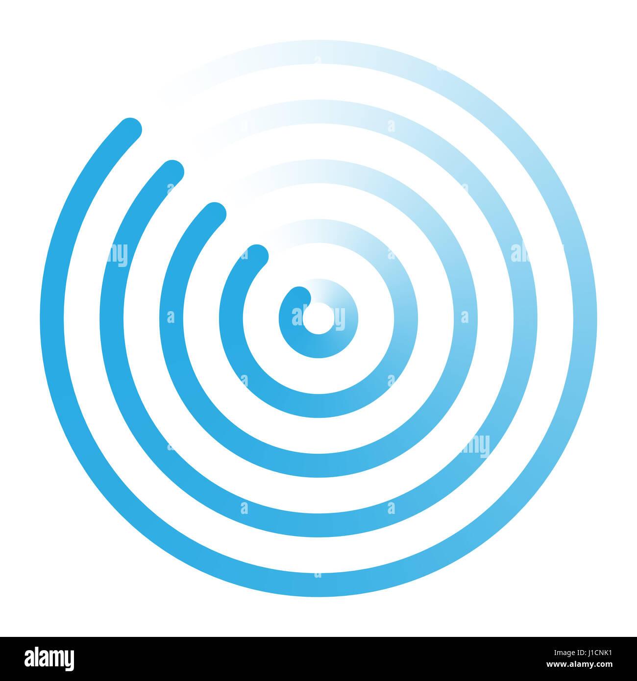 Radar Abstract Icon Concept Logo Sign Symbol Vector Illustration