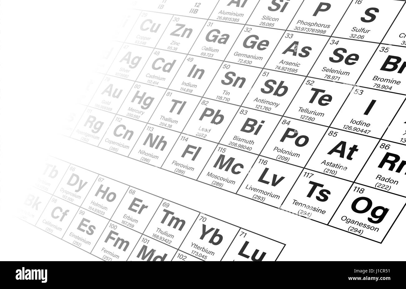 Periodic table of the elements perspective background vector stock periodic table of the elements perspective background vector illustration including nihonium moscovium tennessine and oganesson urtaz Gallery