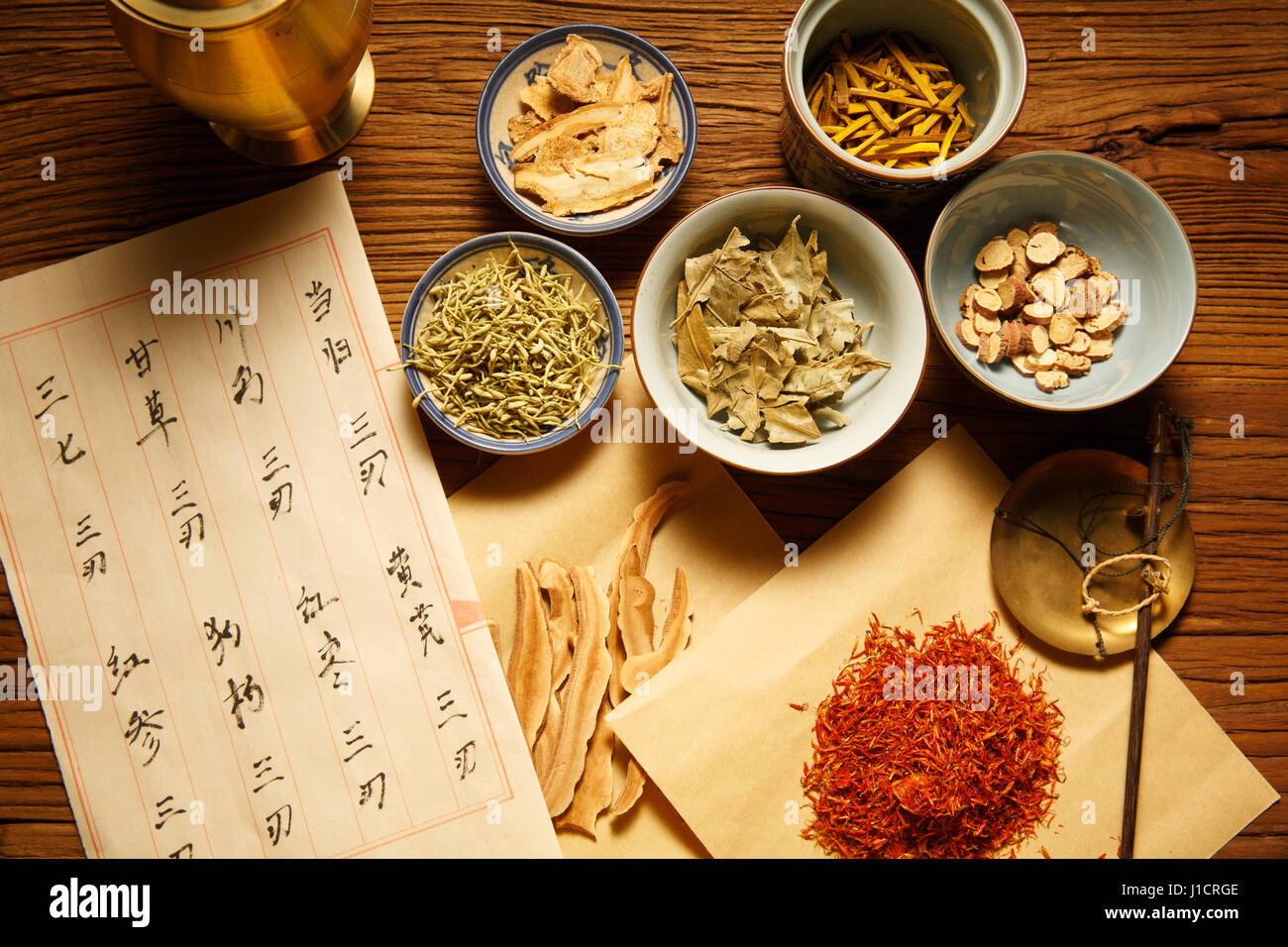 traditional Chinese medicine - Stock Image