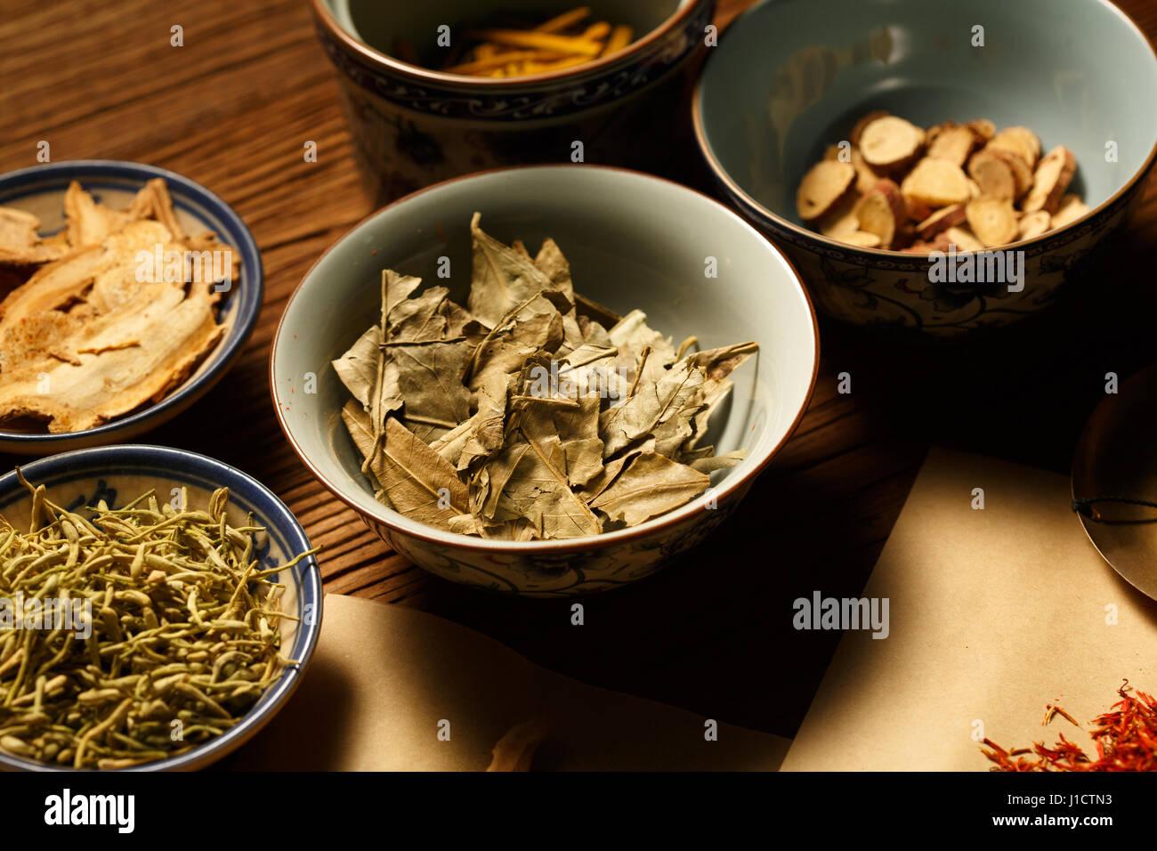Chinese herbal medicine - Stock Image