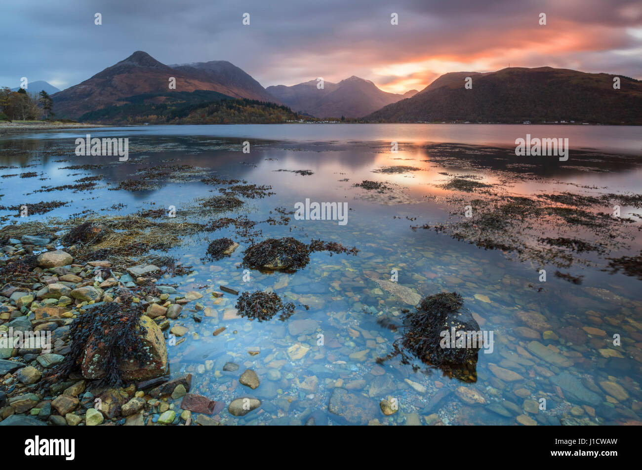 Loch Leven in the Scottish Highlands - Stock Image