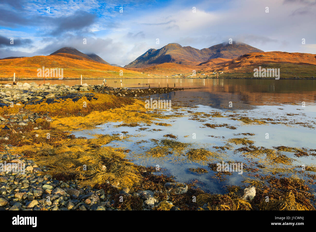 An Cliseam from Loch Bun Anhainn Eadarra on the Isle of Harris - Stock Image