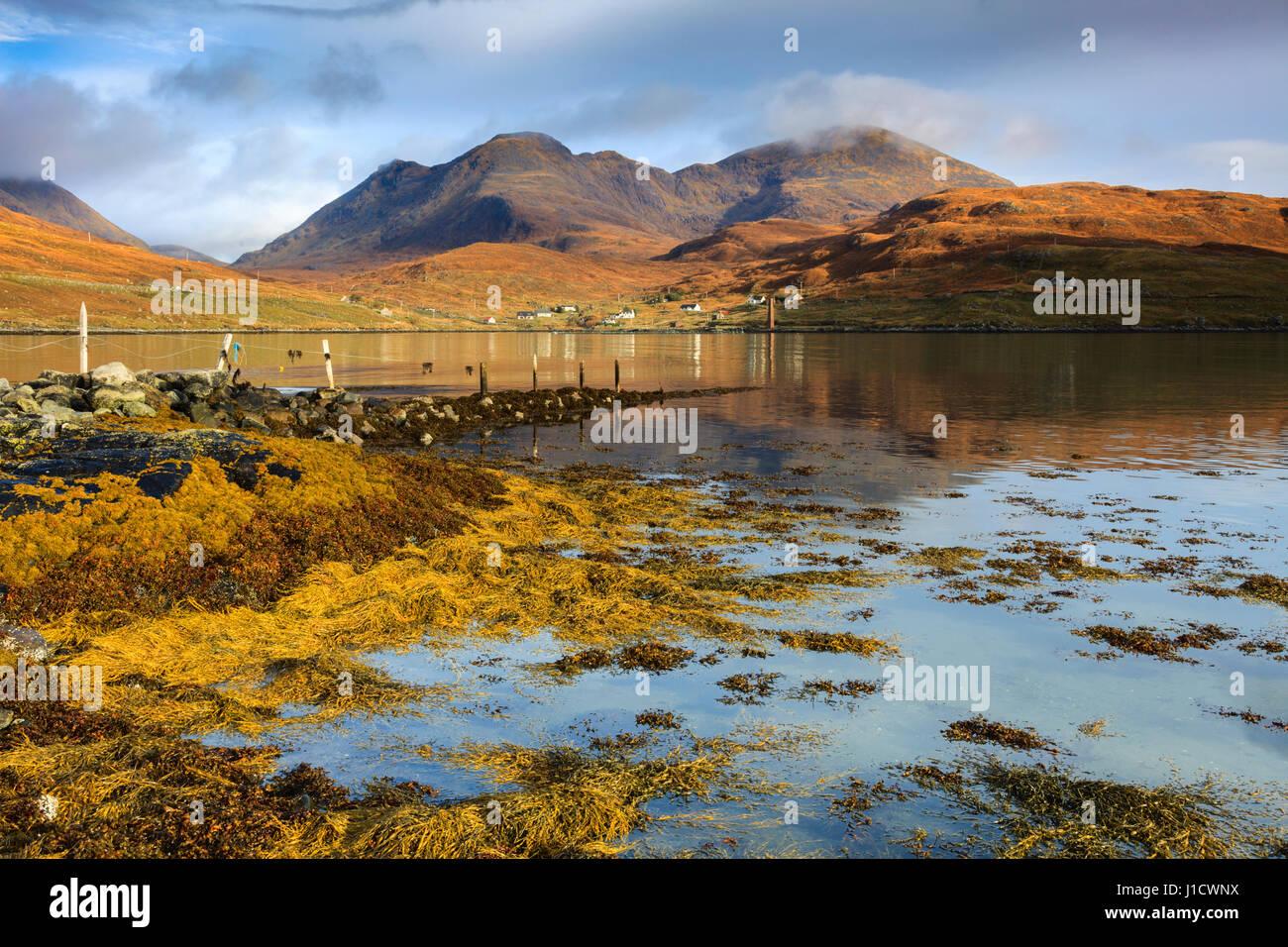 An Cliseam from Loch Bun Anhainn Eadarra on the Isle of Harris - Stock Image